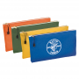 4PK CANVAS ZIPPER BAGS -COLORED^